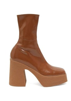 Stella McCartney Patent faux-leather platform ankle boots