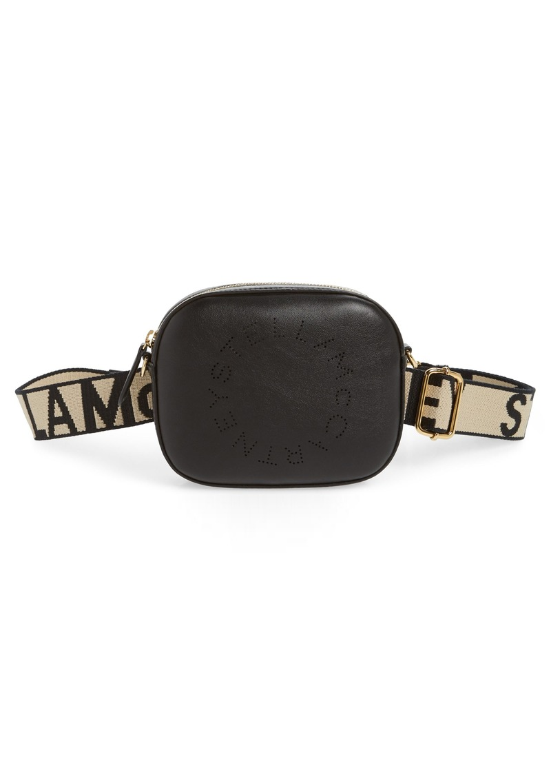 Stella McCartney Perforated Logo Convertible Faux Leather Belt Bag