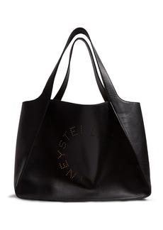 Stella McCartney Stella perforated-logo faux-leather tote
