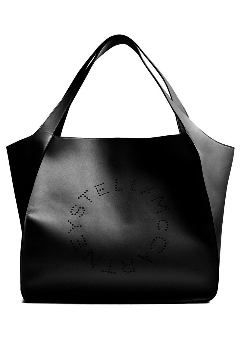 1fa75cf84d01 Stella McCartney Perforated-logo faux-leather tote