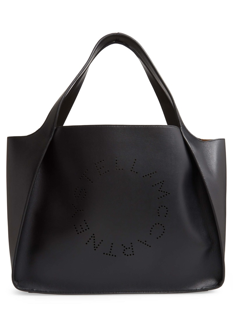 Stella McCartney Perforated Logo Faux Leather Tote