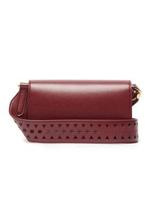 Stella McCartney Perforated-logo mini leather shoulder bag