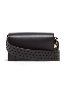 Stella McCartney Perforated logo mini leather shoulder bag