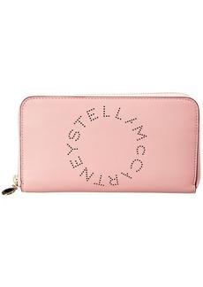 Stella Mccartney Logo Zip Around Wallet