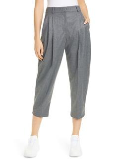 Stella McCartney Pleat Crop Wool Trousers
