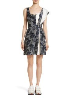 Stella McCartney Pleated Floral Jacquard Dress