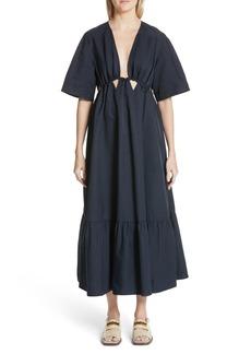 Stella McCartney Plunging Cutout Maxi Dress