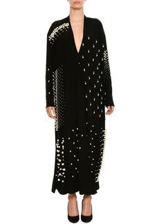 Stella McCartney Plunging Long-Sleeve Cocktail Dress
