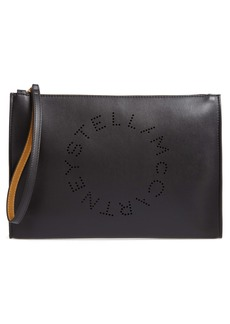 Stella McCartney Pochette Faux Leather Zip Pouch