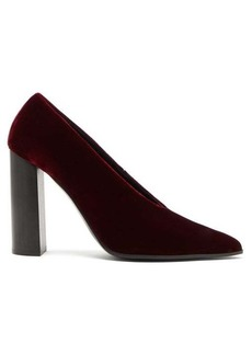 Stella McCartney Pointed velour pumps
