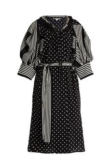 Stella McCartney Polka-dot and stripe print crepe dress