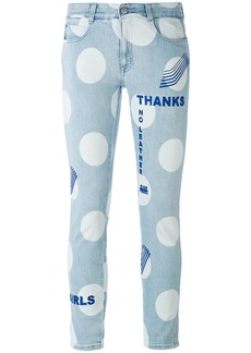 Stella McCartney polka dot jeans - Blue