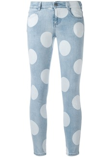 Stella McCartney polka dot skinny jeans - Blue