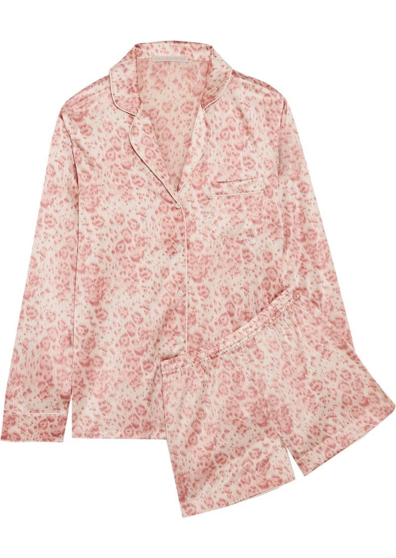 Stella McCartney Poppy Snoozing leopard-print stretch-silk satin pajama set 48a952a8c