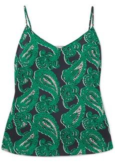 Stella McCartney Poppy Snoozing Printed Stretch-silk Crepe De Chine Camisole