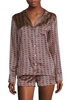 Stella McCartney Poppy Snoozing Silk-Blend Short Pajamas