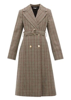 Stella McCartney Pow double-breasted checked wool coat