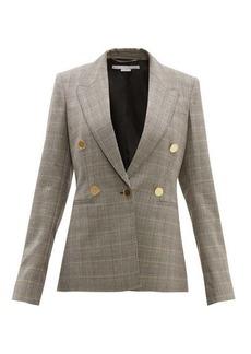 Stella McCartney Prince of Wales-check single-breasted wool jacket