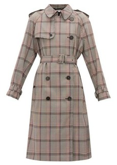 Stella McCartney Prince of Wales-check wool trench coat