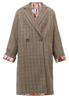 Stella McCartney Double-breasted Prince of Wales-check wool coat