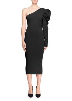 Stella McCartney Puffed One-Shoulder Cocktail Dress