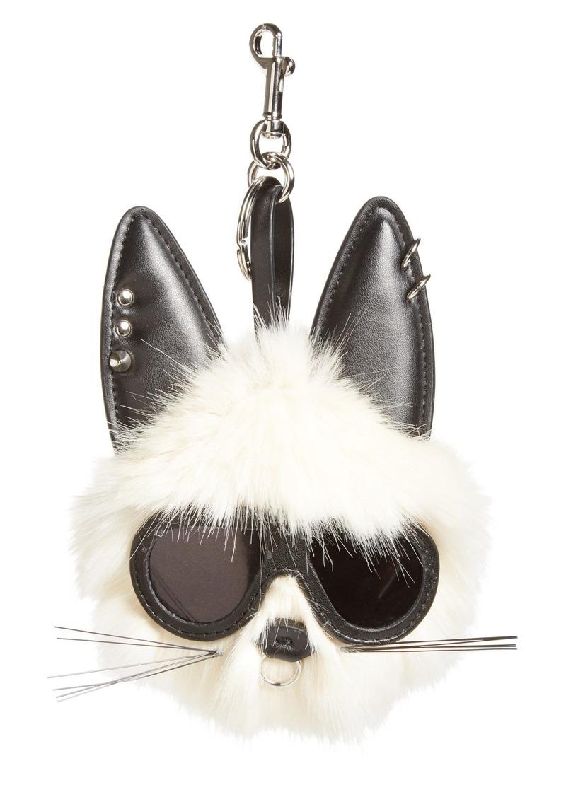 Stella McCartney Stella McCartney Rabbit Faux Fur Bag Charm  201e5dc264237