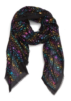 Stella McCartney Rainbow Foil Star Modal & Silk Scarf