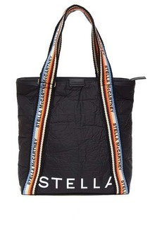 Stella McCartney Striped-rope handles padded tote bag