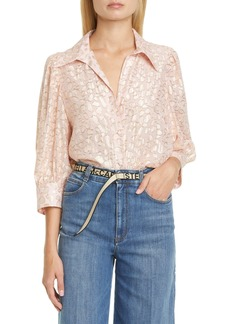 Stella McCartney Reese Metallic Fil Coupé Dot Shirt