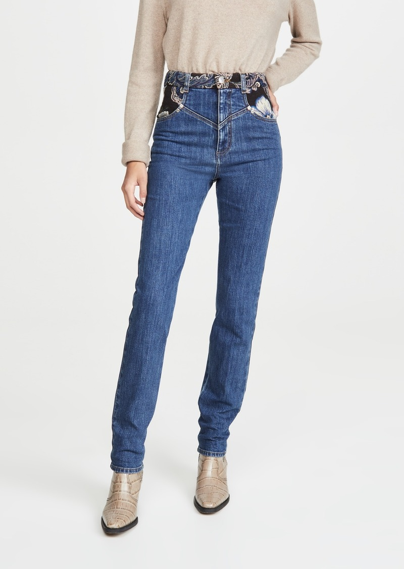 Stella McCartney Retro Stone Blue Jacquard Trousers