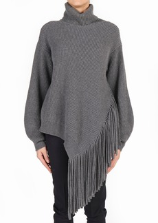Stella McCartney Rib Asymmetrical Fringe Cashmere Sweater