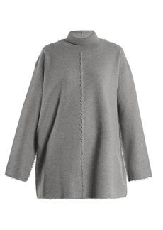 Stella McCartney Roll-neck raw-seam wool sweater
