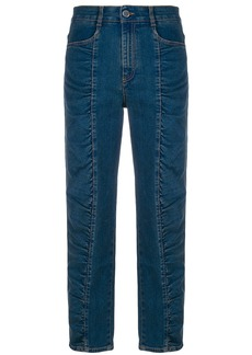 Stella McCartney ruched panel jeans - Blue