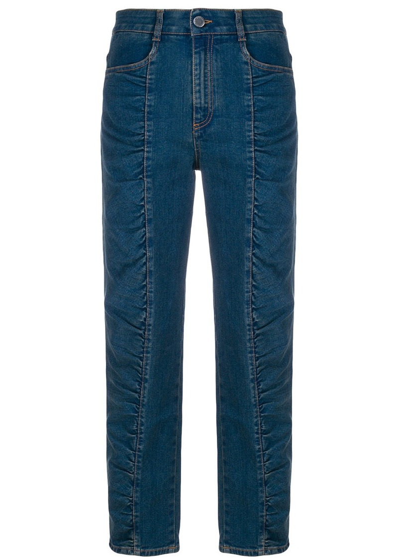 d05a84408c2 Stella McCartney ruched panel jeans