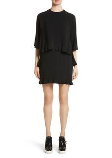 Stella McCartney Ruffle Overlay Stretch Cady Dress
