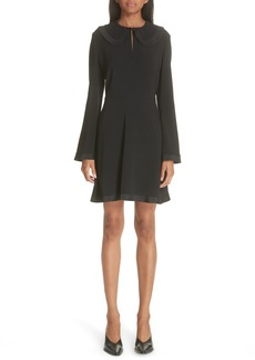 Stella McCartney Ruffle Trim Keyhole Dress