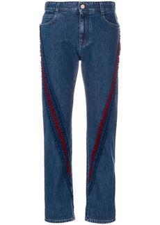 Stella McCartney ruffle-trimmed Boyfriend jeans - Blue