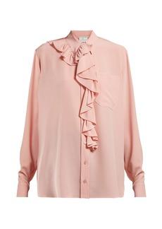 Stella McCartney Ruffle-trimmed silk blouse