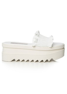 Stella McCartney Ruffled flatform slides