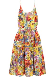 Stella McCartney Ruffled floral-print cotton and silk-blend dress