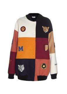 Stella McCartney Sabine badge-embellished patchwork bomber jacket