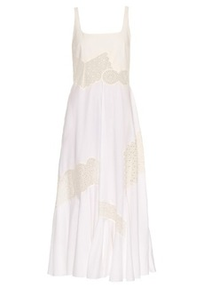 Stella McCartney Sacha broderie-anglaise panel maxi dress