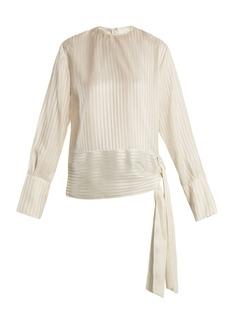 Stella McCartney Sash-hem striped silk top