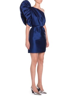 Stella McCartney Satin One-Shoulder Mini Dress