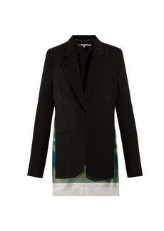 Stella McCartney Scarf-insert wool blazer