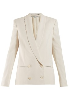 Stella McCartney Shawl-lapel double-breasted snake-jacquard blazer