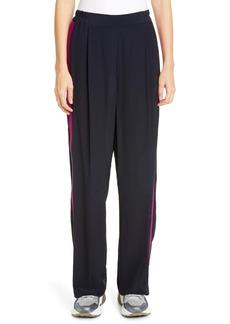 Stella McCartney Side Stripe Crêpe de Chine Pants