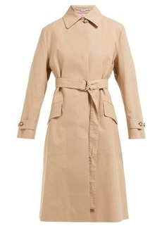 Stella McCartney Single-breasted cotton trench coat