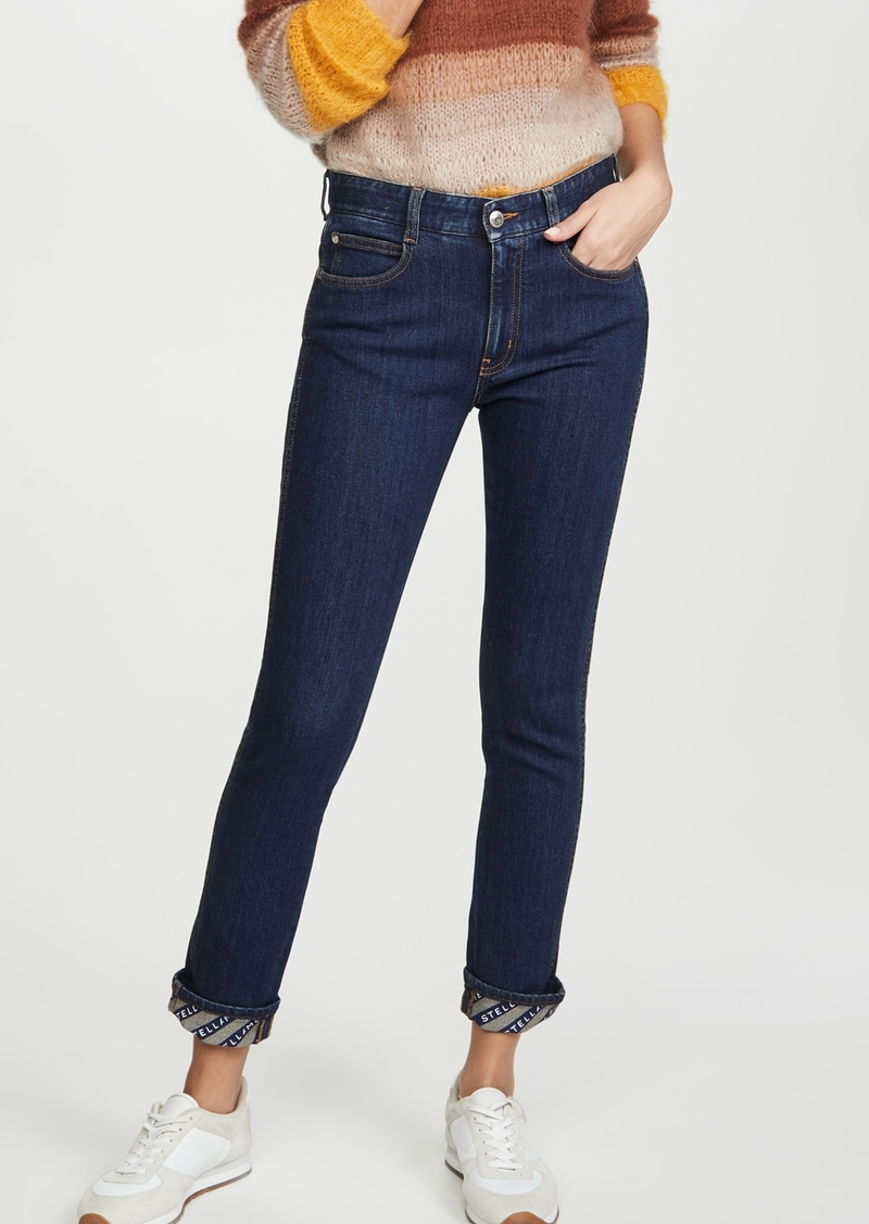 Stella McCartney Skinny Boyfriend Eco Dark Logo Jeans