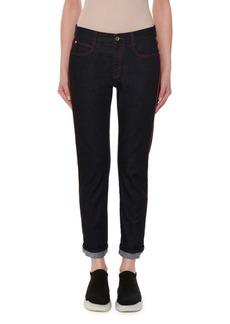 Stella McCartney Skinny Boyfriend Jeans with Contrast Stitching